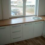 virtuvės komplektas - baltas azuolas