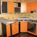 geltonas kampu-virtuves baldai